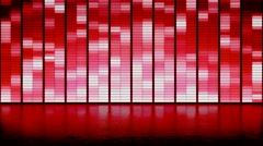 LED panel wall background. club dance Stock Footage