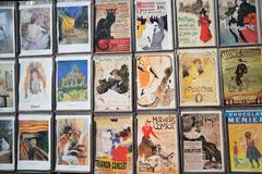 Collections of vintage postcards Stock Photos