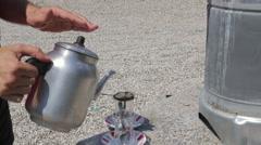 Turkish traditional tea ceremony Stock Footage