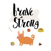 Brave and strong Stock Illustration