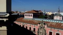 Madrid. Tribunal Area. Landscape Stock Footage