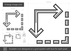 Enlarge image line icon Stock Illustration