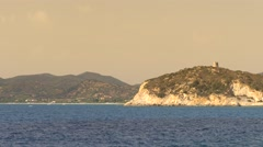 Rocky cliffs of Sardinia. Stock Footage