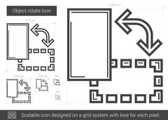 Object rotate line icon Stock Illustration
