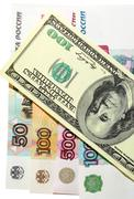Ruble Dollar Currency Stock Photos