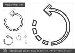 Rotate image line icon Stock Illustration