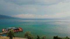 POGRADEC OHRID LAKE ALBANIA Stock Footage