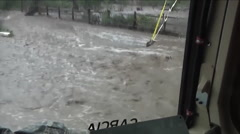 Raw footage of rescues during serious flooding in Colorado  Stock Footage
