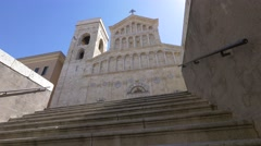 Cagliari - cathedral of Santa Maria. Stock Footage