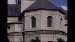 1948: this is a unique gothic style church. it has a amazing built blue tile Stock Footage