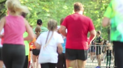Marathon Runners, Running To The Finish, Back, Jogging. Stock Footage
