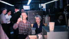 Employees At The Compnay Christmas Party-1962 Vintage 8mm film Stock Footage