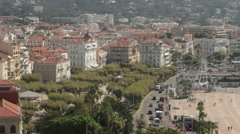 View Of Cannes From The Observation Deck Stock Footage