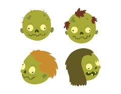 Cartoon zombie character isolated Stock Illustration