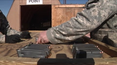 U.S. Army soldiers train for an invasion and the battlefield. Stock Footage