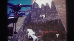 1968: a outdoor scene of a water area is seen Stock Footage