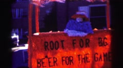 1968: bg beer advertising booth Stock Footage
