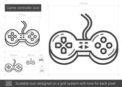 Game controller line icon Stock Illustration