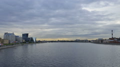 St. Petersburg time-lapse photography view from the bridge on the Neva Stock Footage