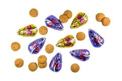 Bunch of ginger nuts and chocolate mice Stock Photos