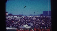 1968: the windiest day at the track Stock Footage