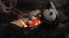 Marshmallow Ready to Fire at Dusk Stock Footage