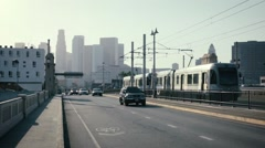 TRAIN TO DOWNTOWN LA Stock Footage