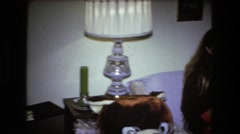 1973: casual family Stock Footage