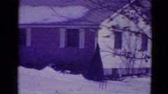 1974: normal day, house, blue footage Stock Footage