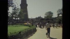 1974: qutub minar in delhi Stock Footage
