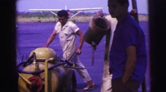 1979: people working with plane Stock Footage