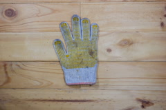 Stop motion old and dirty glove count down Stock Footage
