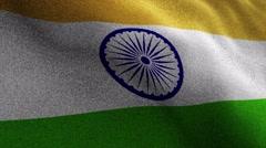 INDIA Flag, Textile Carpet Background, Still Camera, Loop, 4k Stock Footage