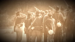 Civil War soldiers in the heat of pitched battle (Archive Footage Version) Stock Footage
