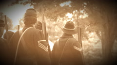 Civil War soldiers firing a volley (Archive Footage Version) Stock Footage