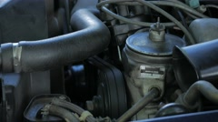 Engine Starting in Classic Mercedes Stock Footage