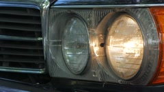 1980 Mercedes 450SL Headlight Turning Off Stock Footage
