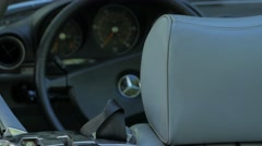 Interior Angle of Classic Mercedes Roadster Stock Footage