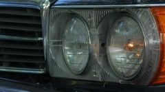 Mercedes High Beams On Then Off Stock Footage