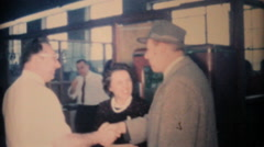 Special Guest Arrives At Office Christmas Party-1962 Vintage 8mm film Stock Footage