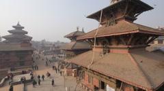 Bhimsen temple on Durbar square,Patan,Nepal Stock Footage