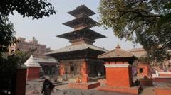 Kumbeshwar temple,Patan,Nepal Stock Footage