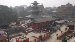 Kumbeshwar temple from above,Patan,Nepal Stock Footage