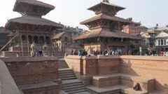 Step well on Durbar square,Patan,Nepal Stock Footage
