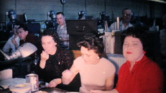 Office Workers Sharing Christmas Dinner Together-1962 Vintage 8mm film Stock Footage