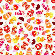 Birthday cake numbers seamless wallpaper Stock Illustration