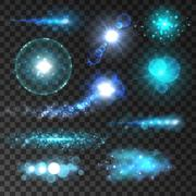Sparkling light flashes and sparkles lens flare Stock Illustration