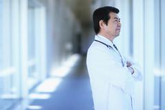 Japanese senior doctor at the hospital Stock Photos
