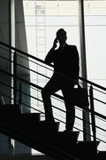 Caucasian businessman on the phone in modern office Stock Photos
