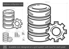 Database configuration line icon Stock Illustration